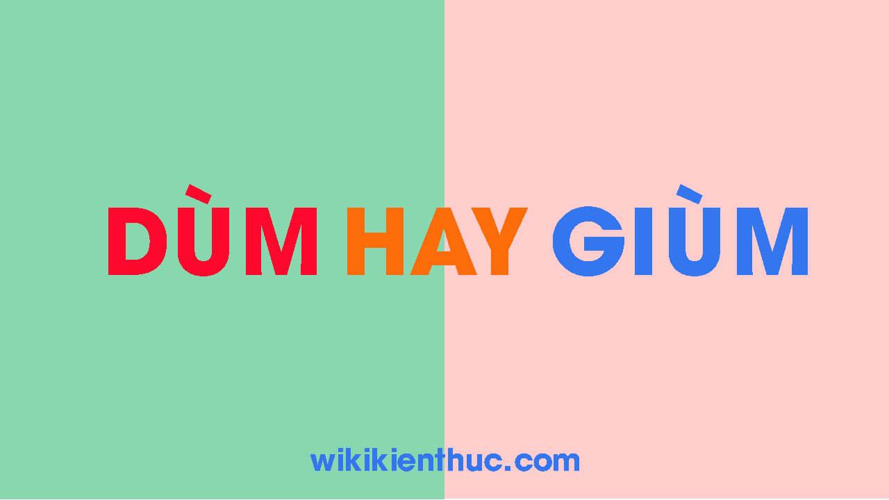 Dùm hay Giùm mới đúng chuẩn chính tả Tiếng Việt