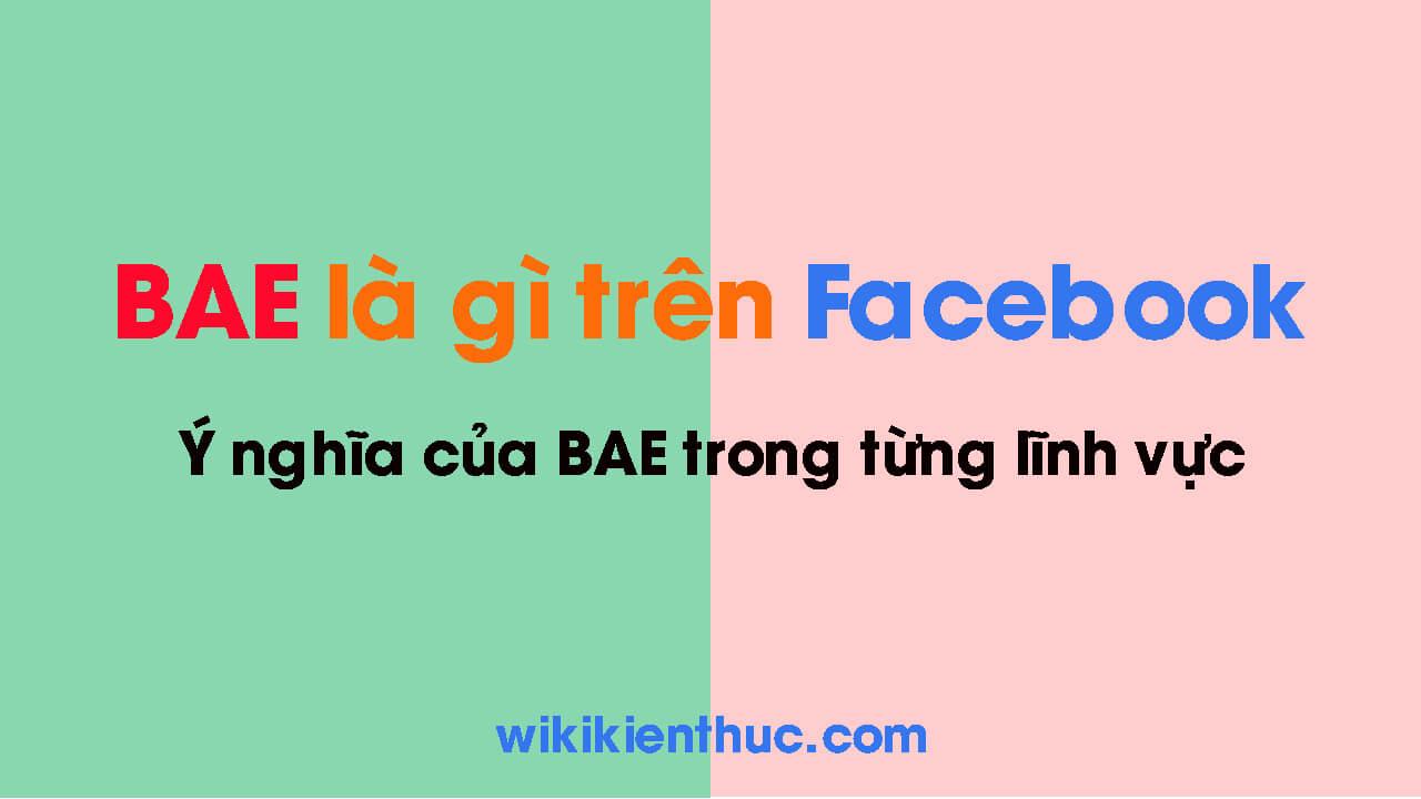 BAE là gì? Ý nghĩa của BAE trên Facebook và trong các lĩnh vực khác