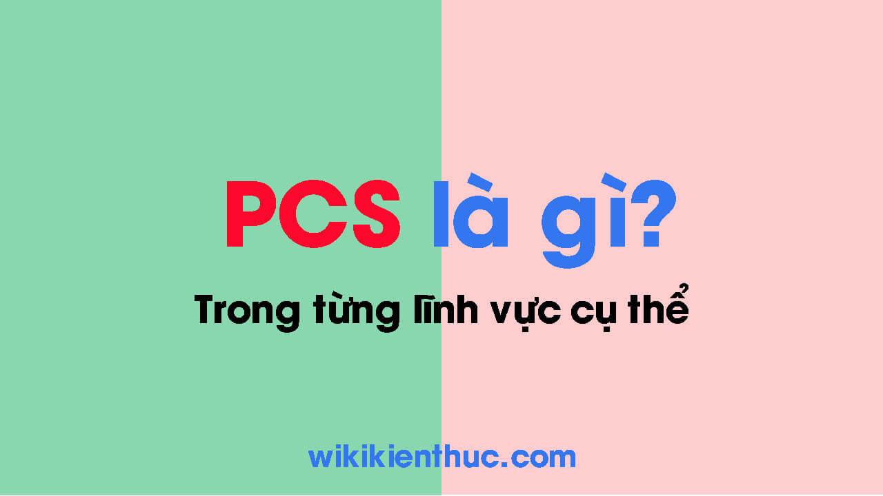 PCS là gì? Ý nghĩa của PCS trong từng lĩnh vực cụ thể như xuất khẩu