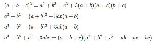 Hằng đẳng thức bậc 3 mở rộng