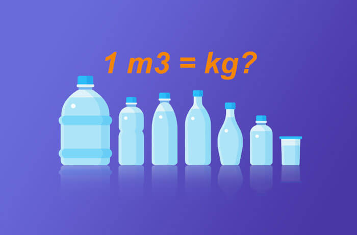 Đổi m3 sang kg | 1m3 đất đá cát nước gỗ bê tông bằng bao nhiêu kg