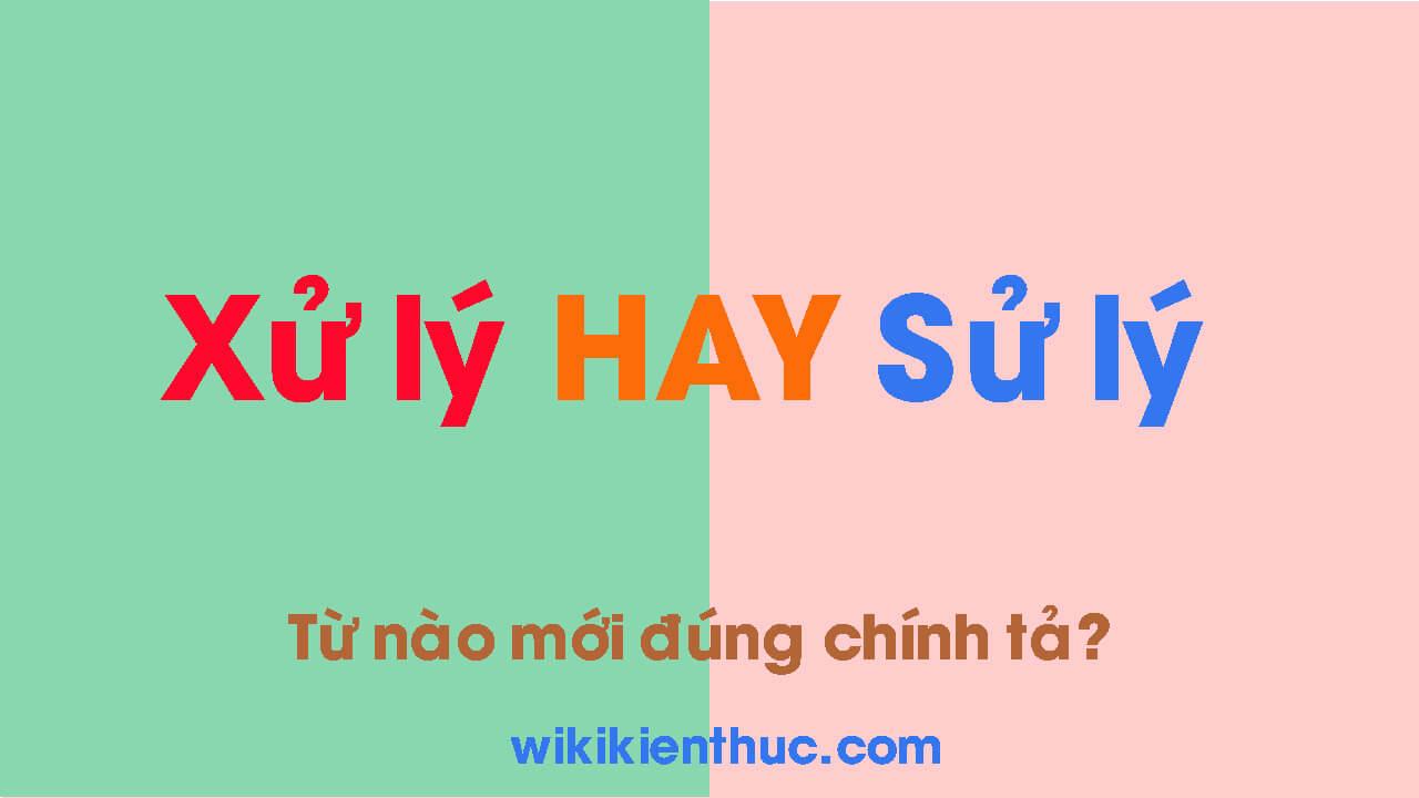 XỬ LÝ hay SỬ LÝ từ nào mới đúng chính tả Tiếng Việt